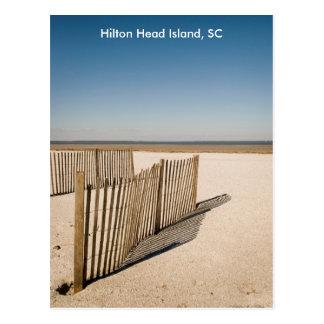 Cerca 2008, Hilton Head Island, SC de la arena Tarjeta Postal