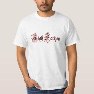 Cerca camiseta del valor del logotipo de la poleras