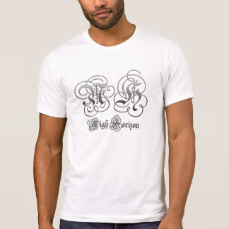Cerca camiseta destruida logotipo del pergamino camisas
