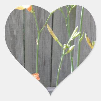 Cerca con Lillies Pegatina En Forma De Corazón