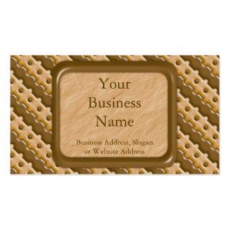 Cerca de carril - mantequilla de cacahuete del cho tarjeta de visita