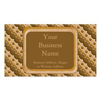 Cerca de carril - mantequilla de cacahuete del cho tarjetas de visita