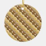 Cerca de carril - melcocha del chocolate ornamento de navidad