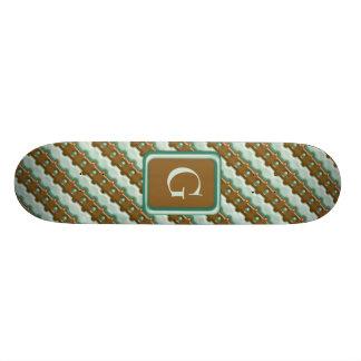 Cerca de carril - menta del chocolate tablas de patinar