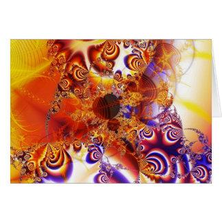 cerca de dios (escudo caido) tarjeta de felicitación