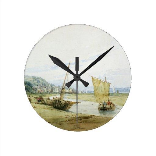 Cerca de Honfleur, c.1822 (w/c sobre el grafito en Relojes