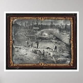 Cerca de la ciudad de Nevada, 1852 de José Blaney  Póster