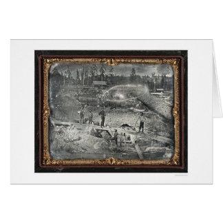 Cerca de la ciudad de Nevada, 1852 de José Blaney Tarjeta De Felicitación