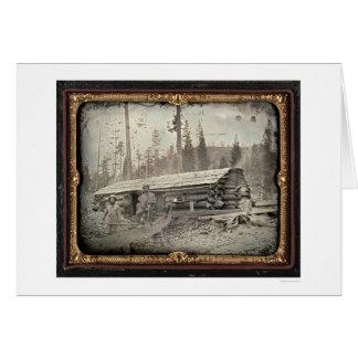 Cerca de la colina del pan de azúcar, 1852 por tarjeta de felicitación