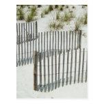 Cerca de la duna de arena postal