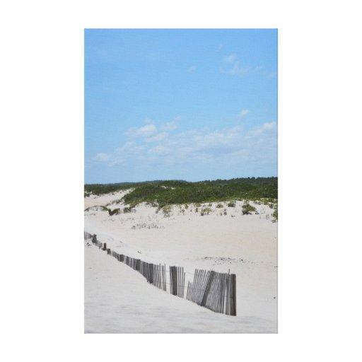 Cerca de la duna lona envuelta para galerías