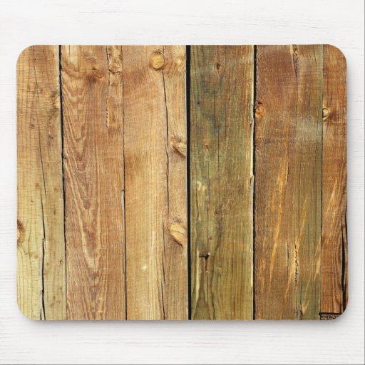 Cerca de madera alfombrillas de ratones
