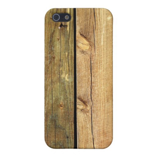 Cerca de madera iPhone 5 carcasas