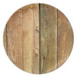 Cerca de madera platos de comidas