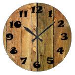 Cerca de madera relojes de pared