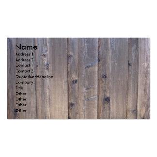 Cerca de madera resistida tarjetas de visita