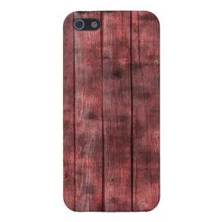 Cerca de madera roja sucia iPhone 5 funda