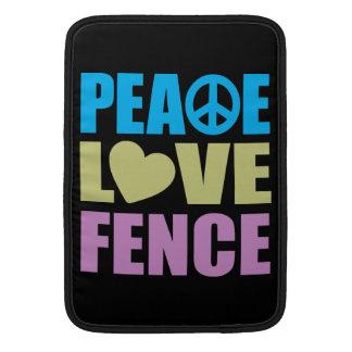 Cerca del amor de la paz fundas para macbook air
