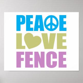 Cerca del amor de la paz posters