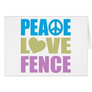 Cerca del amor de la paz tarjetón