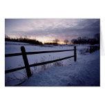 Cerca del invierno tarjeta de felicitación