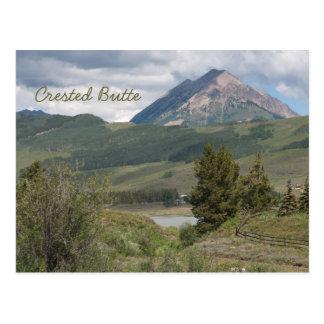 Cerca del lago peanut, mota con cresta, postal del