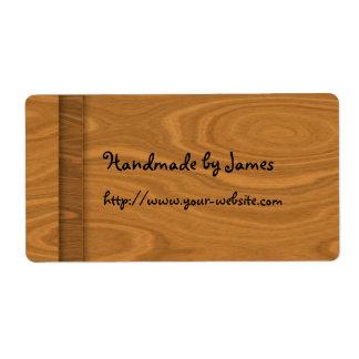Cerca - diseño de madera hecho a mano etiqueta de envío