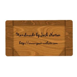 Cerca - diseño de madera hecho a mano etiquetas de envío