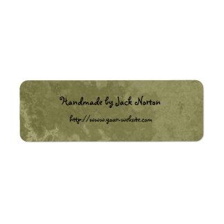 Cerca - diseño de mármol verde hecho a mano etiqueta de remite