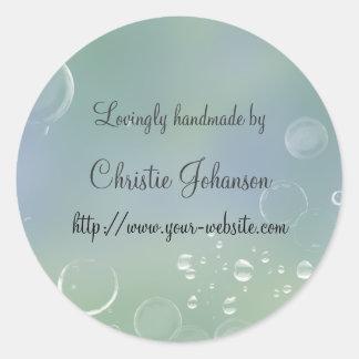 Cerca - diseño hecho a mano de las burbujas pegatina redonda