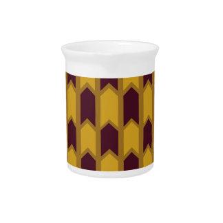 Cerca egipcia del panel del oro jarrones