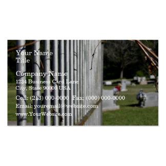 Cerca en un cementerio plantilla de tarjeta de visita