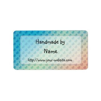 Cerca - etiqueta adaptable hecha a mano etiqueta de dirección