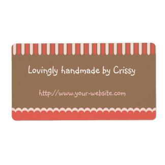 Cerca - etiqueta adaptable hecha a mano etiqueta de envío