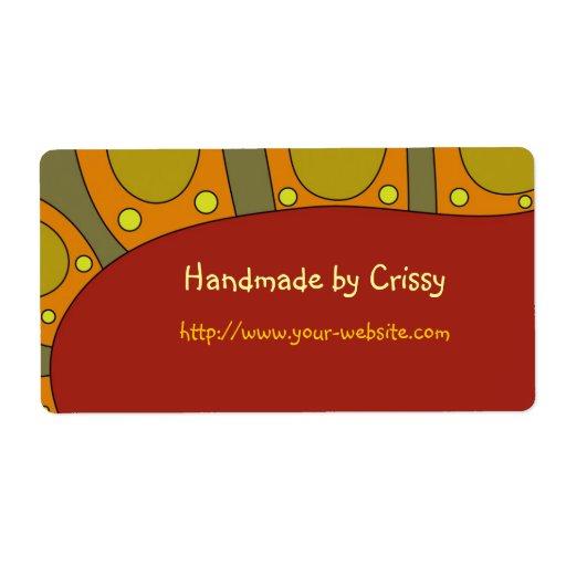 Cerca - etiqueta adaptable hecha a mano etiquetas de envío