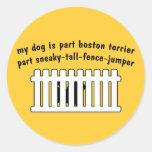 Cerca-Puente de la pieza de Boston Terrier de la Pegatinas Redondas