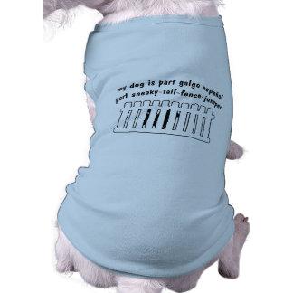 Cerca-Puente de la pieza de Galgo Espanol de la pa Camisa De Perrito