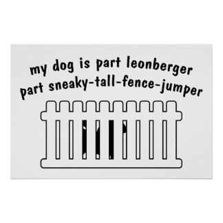 Cerca-Puente de la pieza de Leonberger de la parte Poster