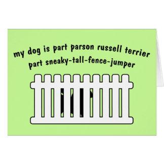 Cerca-Puente de la pieza de Russell Terrier del pá Tarjeta De Felicitación