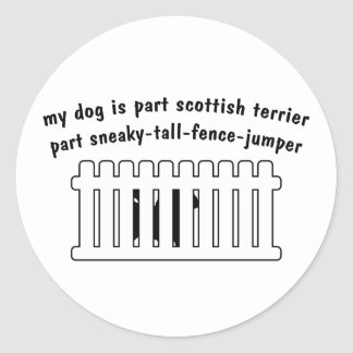 Cerca-Puente de la pieza de Terrier del escocés de Etiqueta Redonda