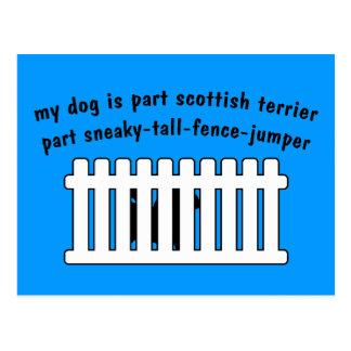 Cerca-Puente de la pieza de Terrier del escocés de Postal
