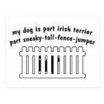 Cerca-Puente de la pieza de Terrier irlandés de la Postal