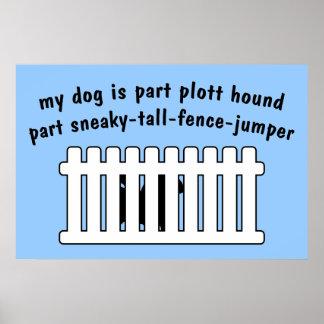 Cerca-Puente de la pieza del perro de Plott de la Poster
