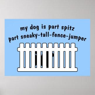 Cerca-Puente de la pieza del perro de Pomerania de Posters