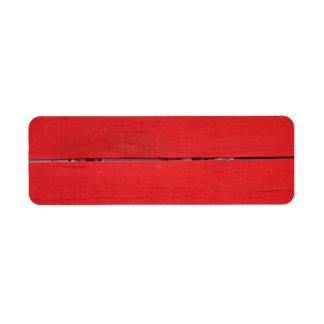 Cerca roja etiqueta de remite