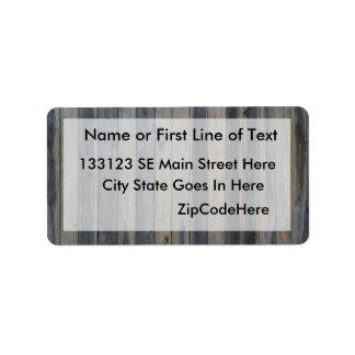 Cerca sólida de madera del listón fondo perfecto etiqueta de dirección