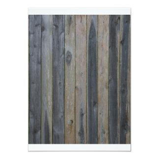 """Cerca sólida de madera del listón, fondo perfecto invitación 5"""" x 7"""""""