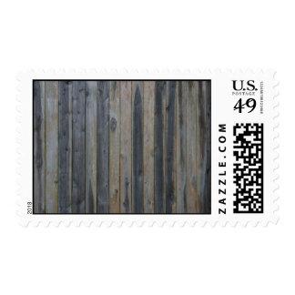 Cerca sólida de madera del listón, fondo perfecto sello postal