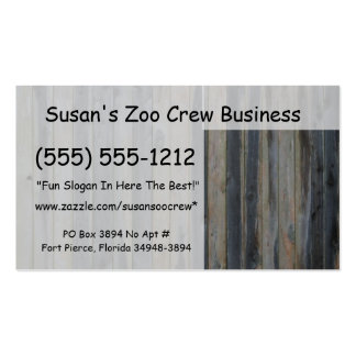 Cerca sólida de madera del listón fondo perfecto tarjeta de visita