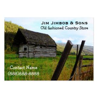 Cerca vieja resistida del granero y de la granja tarjetas de visita grandes